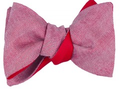 Bow tie - Chevron - red Carnet de Mode bester Fashion-Online-Shop