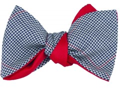 Bow tie - Pied de poule été - blue Carnet de Mode bester Fashion-Online-Shop