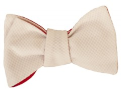 Bow tie - honeycomb - White Carnet de Mode bester Fashion-Online-Shop