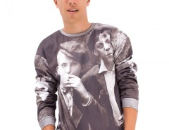 Boys Printed Black Polyester Sweatshirt Carnet de Mode bester Fashion-Online-Shop