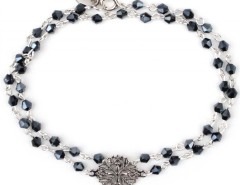 Bracelet with Silver Rose Window and Black Pearls Laetitia Carnet de Mode bester Fashion-Online-Shop