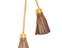 Brass Chain with Leather Pompom - NOLITA Carnet de Mode bester Fashion-Online-Shop