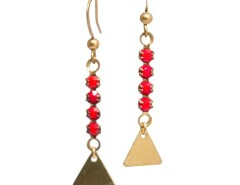Brass Earrings with Crystals - L'oreille Absolue Carnet de Mode bester Fashion-Online-Shop