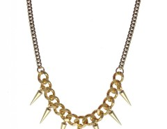 Brass and Bronze Necklace with Spikes JCH13 Carnet de Mode bester Fashion-Online-Shop