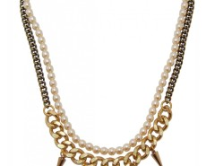 Bronze Brass Necklace with Spikes LOUXOR JCN6 Carnet de Mode bester Fashion-Online-Shop