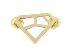 Brooch - METRIQ 4 - Brass Carnet de Mode bester Fashion-Online-Shop
