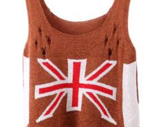Brown Character Mi Cut Out Ripped Knit Vest Choies.com bester Fashion-Online-Shop Großbritannien Europa