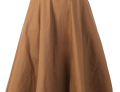 Brown High Waist Belted Waist Skater Skirt Choies.com bester Fashion-Online-Shop Großbritannien Europa