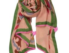 Bukhara Flower Printed Pink Cashmere Pashmina Carnet de Mode bester Fashion-Online-Shop