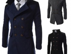 2015 Stylish Men's Slim Personalized Pocket Double-breasted Winter Long Jacket Overcoat Trench Coat Cndirect bester Fashion-Online-Shop aus China