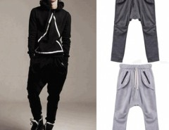 Korean Men Baggy Pants Slacks Sports Casual Loose Long Trousers Cndirect bester Fashion-Online-Shop aus China