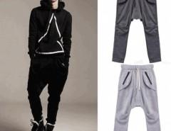 Korean Men Baggy Pants Slacks Sports Casual Loose Long Trousers Cndirect bester Fashion-Online-Shop aus China