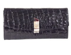 Clutch - croco leather - black/metallic bronze Carnet de Mode bester Fashion-Online-Shop