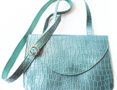 Clutch - metallic leather - lagoon green Carnet de Mode bester Fashion-Online-Shop