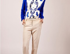 Cream capri pants - Tailored Carnet de Mode bester Fashion-Online-Shop