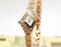 Crystal Quartz Rhombus Bracelet Bangle Women's Wrist Watch Cndirect bester Fashion-Online-Shop China
