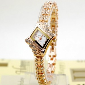 Crystal Quartz Rhombus Bracelet Bangle Women's Wrist Watch Cndirect bester Fashion-Online-Shop China