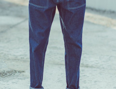 Dark Blue Pocket Casual Tapered Jeans Choies.com bester Fashion-Online-Shop Großbritannien Europa