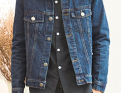 Dark Blue Retro Button Front Denim Jacket Choies.com bester Fashion-Online-Shop Großbritannien Europa