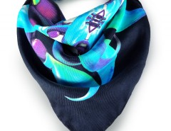 D'vine Emerald Printed Silk Square Scarf Carnet de Mode bester Fashion-Online-Shop
