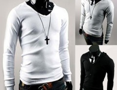 Hotsale!! Stylish Men's High Quality Cotton Long Sleeve O-neck Pullover Hoodie T-shirt Cndirect bester Fashion-Online-Shop aus China