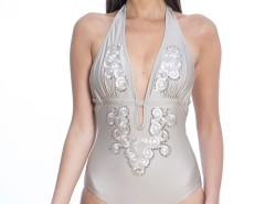 Embroidered Microfibre Swimsuit Place Vendome Carnet de Mode bester Fashion-Online-Shop