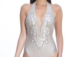 Embroidered Microfibre Swimsuit Place Vendome Carnet de Mode bester Fashion-Online-Shop