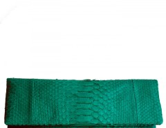 Emerald Python Leather Clutch - Essentiel Carnet de Mode bester Fashion-Online-Shop