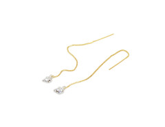 Fang Chain Earrings. White Gold and Yellow Gold Chains. MrKate.com bester Fashion-Online-Shop aus den USA