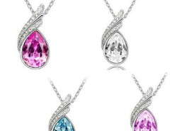 Fashion 18K GP crystal necklace pendant options 4colour New Arrival Cndirect bester Fashion-Online-Shop China