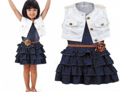 Fashion Baby Girl Kids Outfit Clothes Coat + Dress 2 Piece Set with Belt Cndirect bester Fashion-Online-Shop China