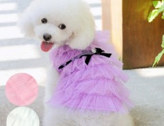 Fashion Cute Pet Dog Clothes Costume Layered Apparel Princess Dress Skirt 3 colors Cndirect bester Fashion-Online-Shop China