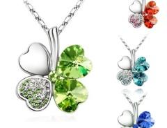 Fashion KoreanRhinestone Elegant Exquisite Charms Flower Leaf Rhinestone Necklace Cndirect bester Fashion-Online-Shop China