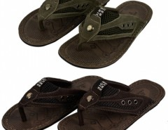Fashion Men's Casual Leather Male Sandals Flip-flops Shoes 2 Colors Cndirect bester Fashion-Online-Shop China