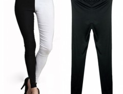 Fashion Sexy Black and white Mixed Splicing Leggings Cndirect bester Fashion-Online-Shop China