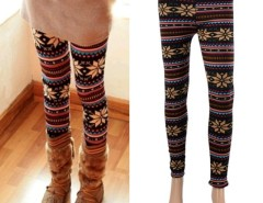 Fashion Women's Snowflake Pattern Warm Leggings Tights winter Thicken Pants Cndirect bester Fashion-Online-Shop China