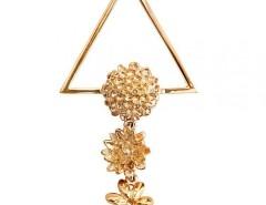Flower Golden Clip Carnet de Mode bester Fashion-Online-Shop