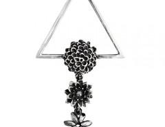 Flower Silver Clip Carnet de Mode bester Fashion-Online-Shop