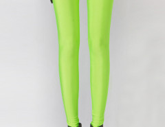Fluorescent Green High Waist Stretchy Leggings Choies.com bester Fashion-Online-Shop Großbritannien Europa
