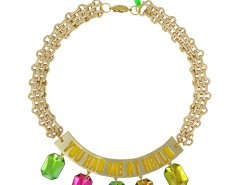 Gold-plated You had me at hello plastron necklace Carnet de Mode bester Fashion-Online-Shop
