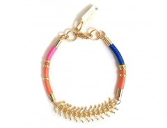 Golden Brass and Bright Cord Sparks Bracelet Carnet de Mode bester Fashion-Online-Shop