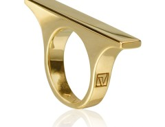 Golden Sterling silver ring Velizance - Quae Carnet de Mode bester Fashion-Online-Shop