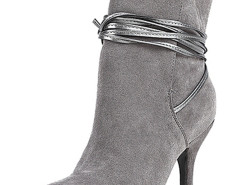 Gray Ponited Toe Strappy Heeled Boots Choies.com bester Fashion-Online-Shop Großbritannien Europa