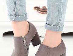 Gray Suede Pointed Heel Boots Choies.com bester Fashion-Online-Shop Großbritannien Europa