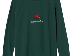 Green Embroidery Watermelon And Letter Pattern Sweatshirt Choies.com bester Fashion-Online-Shop Großbritannien Europa