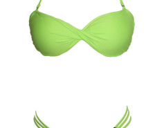 Green Halter Push Up Twist Bikini Top And Strappy Bottom Choies.com bester Fashion-Online-Shop Großbritannien Europa