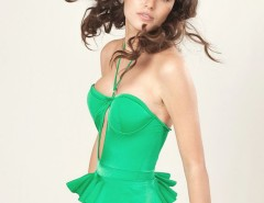Green Peplum Mina Swimsuit Carnet de Mode bester Fashion-Online-Shop