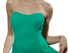Green Swimsuit with Hip Details 4893 Carnet de Mode bester Fashion-Online-Shop