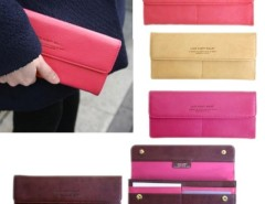 HOT Women Long Purse Wallet Checkbook Wallet Stylish Button Wallet 4 Colors Cndirect bester Fashion-Online-Shop China