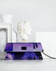 Handheld Clutch - Purple - 80's Carnet de Mode bester Fashion-Online-Shop